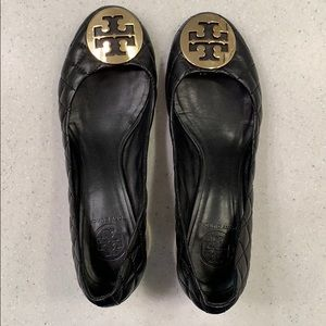 Tory Burch Black Quilted Pumps